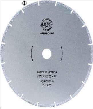 Бревенчатый алмазный пильный диск