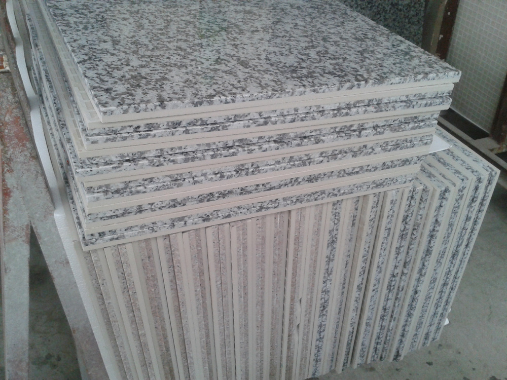 Ceramic Backed granite Tile,ceramic laminated granite tile