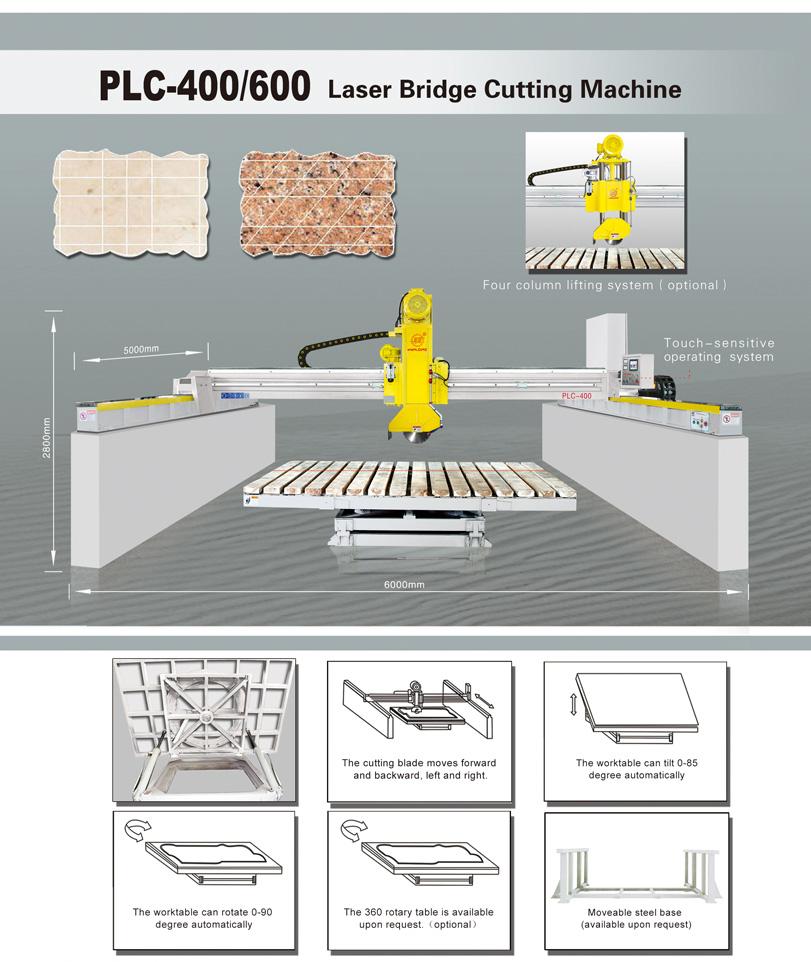 PLC-400/600 Cortador de piedra de puente automático por infrarrojo