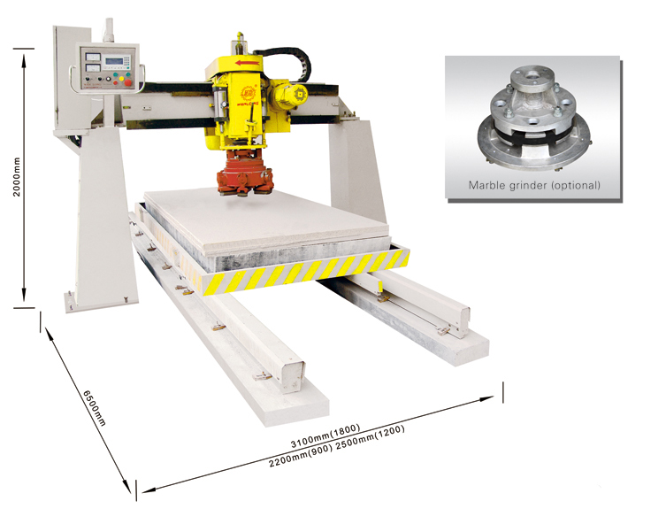 bridge single head automatic polisher,stone polishing machinery,stone polisher,bridge polisher,marble polisher,granite polisher,manmade stone polishier