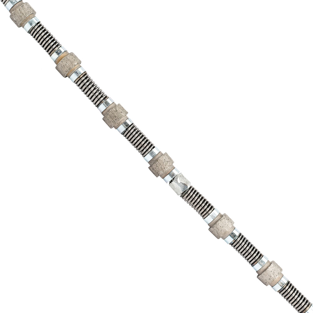 Diamond Wire Saw With Spring Connection For Marble Cutting