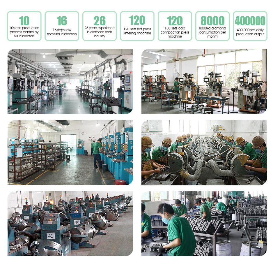 WANLONG factory,Wanlong production workshop,diamond segment Wanlong production workshop
